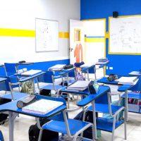 Sala de aula no Colégio Castro Alves