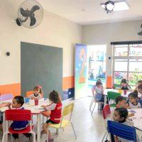 Sala do ensino infantil no Colégio Castro Alves